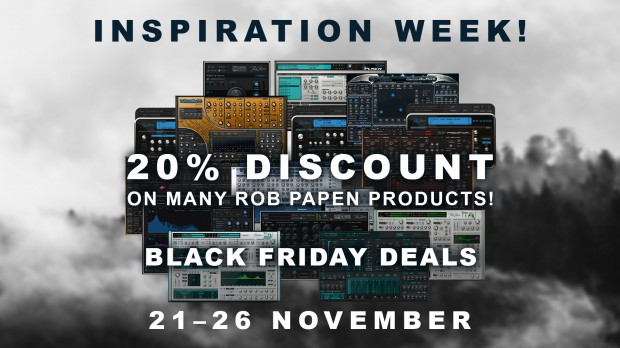 Rob Papen - Black Friday Promos 2018