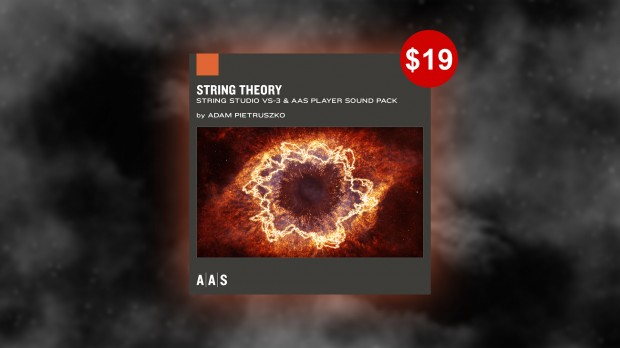 String Theorie banner + price