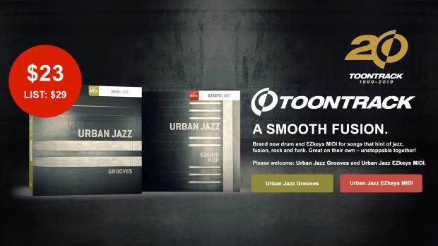 Toontrack Urban Jazz MIDI Packs