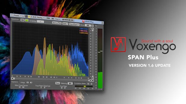 Voxengo SPAN Plus 1.6 Update
