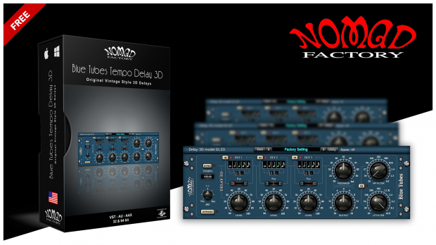 Nomad Blue Tubes Tempo Delay 3D FREE
