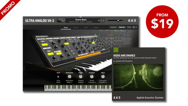 AAS Kicks and Snares Ultra Analog VA-3 Promos April 2020